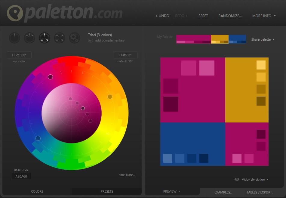 Kleurenpalet kiezen