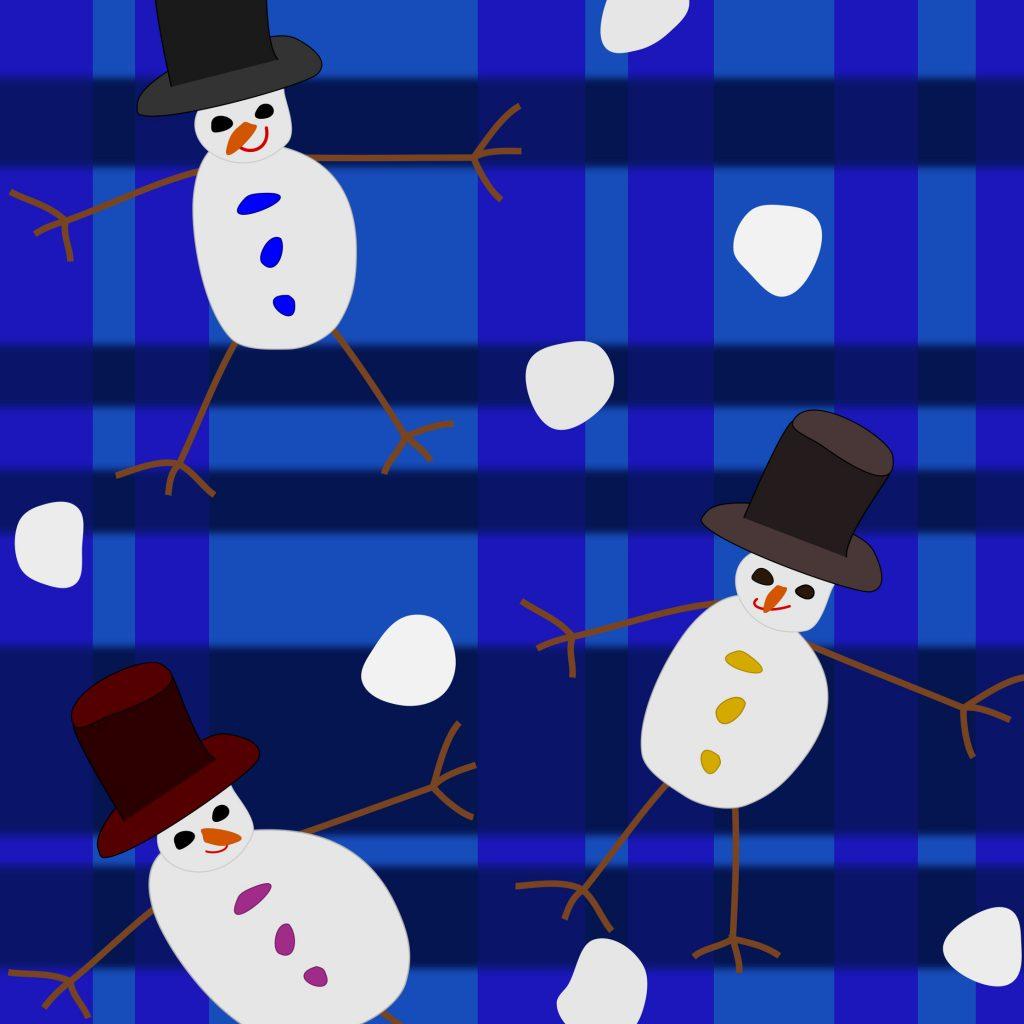 textieldesign sneeuwmannen
